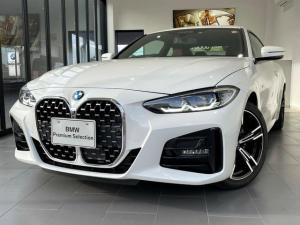 BMW 4シリーズ 420iクーペ Mスポーツ 現行モデル 弊社デモカー 赤レザーシート 純正HDDナビ アラウンドビューモニター ACC スマートキー 18インチAW LED