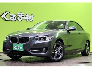 BMW 2シリーズ 220iクーペ スポーツ インテリジェントセーフティ ディーラー車 HDDナビ DVD Bカメラ Pシートヒーター アイドリングS Bソナー クルコン スマートキー オートHID&フォグ ドラレコ パドルシフト ETC 17AW 4気筒ターボ 8AT