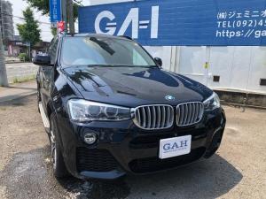 BMW X3 xDrive 28i Mスポーツ 後期モデル パノラマサンルーフ 黒革シートヒーター サイドステップ 19インチアルミ パワートランク 360°カメラ ドライブレコーダー ETC フルセグTV ボディーコーティング