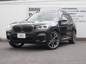 BMW X3 M40d 電動ガラス・パノラマルーフ 新車保証継承 LED ワンオーナー 直噴6気筒Mパフォーマンスエンジン 純正21インチアルミホール HDDナビゲーション バックカメラ 障害物センサー スマートキー