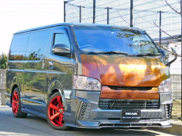ディーゼルターボ ワンオーナー車 両側パワースライド AGENTフルエアロ ESSEX18インチ フリップダウンモニタ-