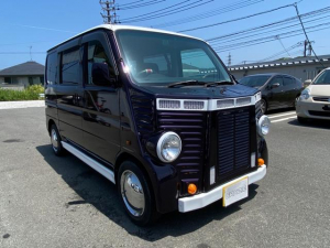 ホンダ バモス L フレンチバス仕様 フロントバンパー サイドステップ リアバンパー レザー調シートカバー メッキホイルカバー