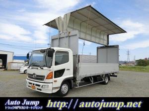 日野 ヒノレンジャー  3.25t ワイド幌ウイング ディーゼルターボ 6速マニュアル