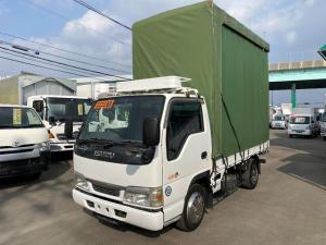 いすゞ エルフトラック フルフラットロー 1.85トン幌付平ボディ 内高264cm