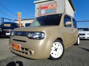 日産 キューブ 15X キーレス・純正ナビTV・RS・Rダウンサス・純正サス有り・ウッド調パネル・