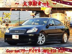日産 フーガ 350GT 本革シート 革巻きハンドル DVDナビ ETC