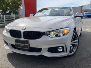 BMW 4シリーズ 440iカブリオレ Mスポーツ レザーシート ハーマンカードン コンフォートローディング HDDナビ フルセグ F・Bカメラ クリアランスソナー インテリジェントS レーンチェンジウォーニング レーンディパーチャーウォーニング