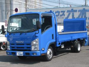いすゞ エルフトラック ロング パワーゲート付・3.0ディーゼルターボ フロア5速MT・1.8t積・荷台フロア鉄板張り・荷台内寸 長さ436cmX横幅178cm