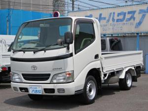 トヨタ ダイナトラック  低床1.25t平ボデー 2.5ディーゼルターボ フロア5速MT 荷台内寸 長さ283cmX横幅160cmXアオリ高さ38cm 荷台フロア鉄板張り