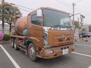 日野 プロフィア 10tミキサー車 極東 電動シュート