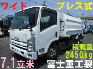 いすゞ エルフトラック 3Tクラス パッカー車 プレス式 7立米 塵芥車 押出式 積載量2.45T フジマイティ