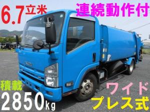 いすゞ エルフトラック 3tサイズ パッカー車 プレス式 ワイド 塵芥車