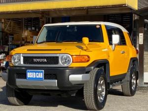 トヨタ FJクルーザー カラーパッケージ パートタイム4WD 純正HDDナビ フルセグ バックカメラ ブルートゥース コーナーセンサー クルコン 革巻きステア ドラレコ 観音開き 背面タイヤ バックフォグ 純正17AW