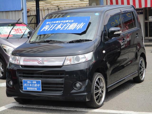 【ワゴンRスティングレー X】プッシュスタート 社外16AW ベンチシート 革巻ハンドル シートリフター スマートキー