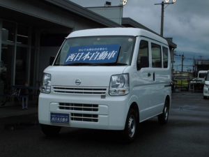 日産 NV100クリッパーバン DX 運転席・助手席エアバック ヘッドライトレベライザー エアコン ラジオ 両側スライドドア