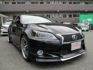 レクサス GS GS250 バージョンL サンルーフ/黒本革シート/シートヒーター&クーラー/LEDヘッドライト/オートクルーズ/パドルシフト/社外19インチアルミ