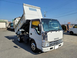 いすゞ エルフトラック 強化フルフラットローダンプ 3トン低床4ナンバー6速ギア