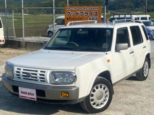 日産 ラシーン タイプI 4WD チェックシート 背面タイヤ 運転席エアバック 4速オートマチック CD・MDプレーヤー エアコン パワステ パワーウインドウ