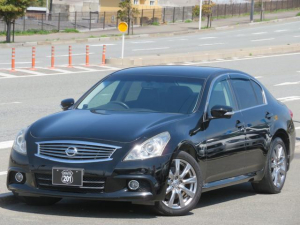 日産 スカイライン 250GT タイプS 最終モデル 純正HDDナビフルセグDVD走行中可Bluetooth バック/サイドカメラ ETC ドライブレコーダー FRセンサー 車検整備2年付