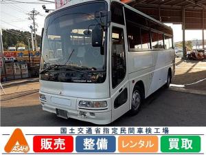 三菱ふそう エアロミディ26人乗り小型バス観光仕様貫通トランク有