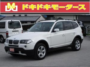 BMW X3 2.5si 4WD HDDナビ CD サイドカメラ バックカメラ キーレス ソナー パワーシート HID 記録簿 タイミングチェーン