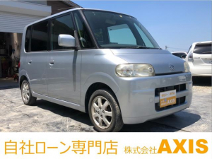 ダイハツ タント XスマイルセレクションII 社外HDDナビ/新品シートカバー