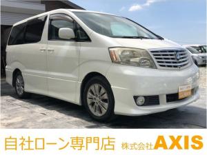 トヨタ アルファードV AS プレミアム 社外HDDナビ/Wサンルーフ/ETC
