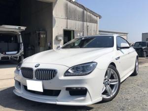 BMW 6シリーズ 650iグランクーペ 新品アイバッハダウンサス!Fスポイラ-!Connected Drive! ドライビングアシストプラス!レーンチェンジウォーニング!19インチアルミ!ガラスルーフ!純正地デジフルセグTVナビ!黒革シート