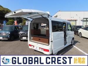スズキ エブリイワゴン PZターボスペシャル 4WD 簡易ベッド スノーピークガスコンロ KingCampBBQテーブル 車中泊 純正ナビ バックモニター