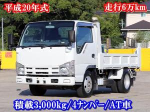 いすゞ エルフトラック 3t ダンプ 全低床 4ナンバー AT車