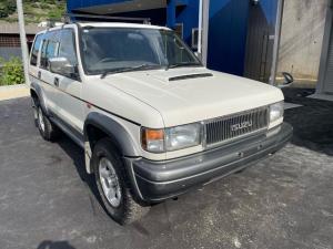 いすゞ ビッグホーン XSプレジール ロング 保証付 4WD ターボ ETC HIDライト アルミホイール 運転席エアバッグ 助手席エアバッグ 背面タイヤ 3.1ディーゼル