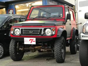 スズキ ジムニー  保証付 2サイクルエンジン 4速MT 4WD 社外アルミホイール オーバーフェンダー リフトアップ 550cc 昭和57年式 型式SJ30V