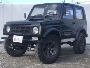 スズキ ジムニー ワイルドウインドリミテッド 4WD リフトアップ 外マフラー ブロックタイヤ