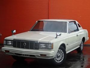 トヨタ クラウン ロイヤルサルーン 2ドアハードトップ 2.8 ランドウトップ 純正14インチアルミ 社外CDデッキ