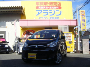 三菱 eKワゴン E キーレス ETC 社外ナビ シートヒーター Bカメラ アラジン佐世保店