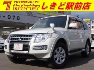 三菱 パジェロ ロング エクシード 4WD ナビ フルセグTV バックカメラ アルミホイール シートヒーター HID DVD