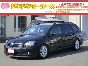 トヨタ アベンシスワゴン Li 後期 車高調 クルコン HDDナビ DVD再 Bluetooth キーレス ハーフレザーシート HID ETC Bカメラ 電動シート 16AW タイミングチェーン