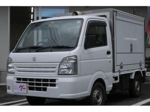 スズキ キャリイトラック 移動販売冷凍車 拡声器 流し台 CD キーレス エアバッグ