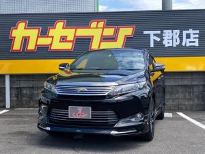 トヨタ ハリアー プレミアム アルパインSDナビ Bluetooth アイドリングストップ クルーズコントロール 車線逸脱警報 オートハイビーム 運転席パワーシート バックモニター ハーフレザーシート