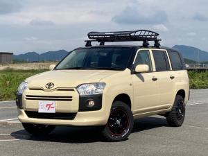 トヨタ プロボックス DX 4WD 新品THULEルーフキャリア リフトアップ 社外アルミ 外装全塗装(内側塗装済) 社外ナビ バックカメラ Bluetooth接続可能 キーレス エアコン 全席PW 電動格納ミラー ETC