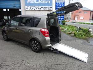 トヨタ ラクティス  ウエルキャブ 車イス仕様 スロープタイプリヤ車高低下装置付き 5人乗り 車検合格済み(予備検査) 車椅子 福祉