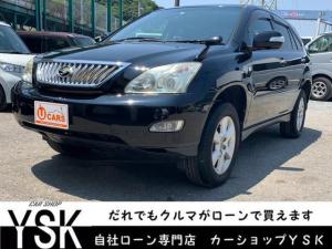トヨタ ハリアー 240G 1年保証 新品シートカバー HDDナビ アルミ