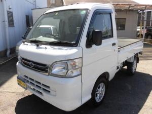 ダイハツ ハイゼットトラック エアコン・パワステ 5速MT 4WD 三方開 SDナビ