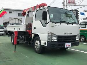 いすゞ エルフトラック  2t積 高床 2.6t吊 3段クレーン フックイン Wタイヤ ETC キーレス 6速ミッション