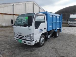いすゞ エルフトラック 2t積載 一般廃棄物収集運搬車 土砂禁ダンフ