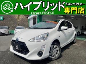 トヨタ アクア S プッシュスタート/純正ワンセグナビ/Bluetooth/ETC/保証付き
