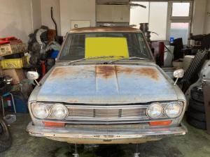 日産 ブルーバードバン DX オリジナルペイント 腐食穴無し L16 SSSエンジン ソレックス40φ ディスクブレーキ フロント車高調 シート純正西陣織張替済み