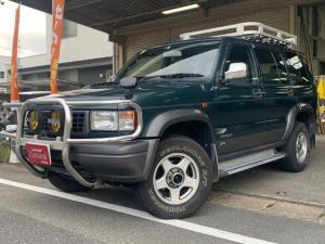 いすゞ ビッグホーン XSプレジール ロング ユーザー買取車 ディーゼルターボ タイミングベルト交換済み(95000km時) パートタイム4WD ルーフキャリア 背面タイヤ ETC