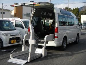 トヨタ ハイエースバン 福祉車両 車いす2台積込み10人乗り 電動リフト 左パワスラ