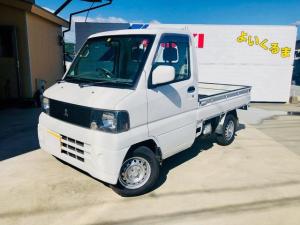 三菱 ミニキャブトラック  マニュアル5速 4WD パワステ エアコン 新品タイヤ2本 2年車検整備 FM AMラジオ